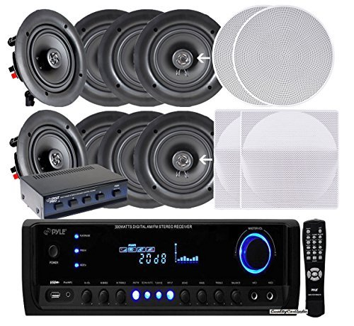 Pyle High Power Stereo Speaker - Pyle KTHSP390S 4 Pairs of 150W 5.25
