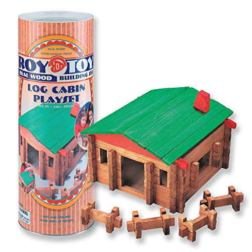 Classic LOG Cabin Playset in Canister 140 Pcs #20001
