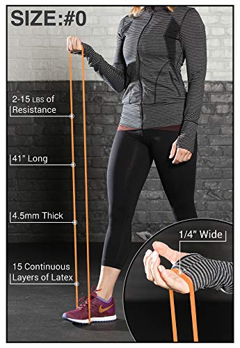 Serious Steel Fitness Orange - #0 Micro Resistance and Mobility Band (2-12 lbs) by Serious Steel Fitness (Image #2)