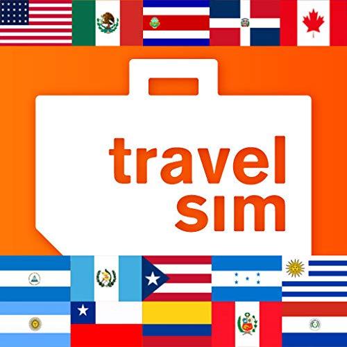 Tarjeta SIM para América-EE.UU.,Canadá, México, Costa Rica, República Dominicana, Guatemala, Honduras, Nicaragua, Puerto Rico, Argentina, Brasil, ...