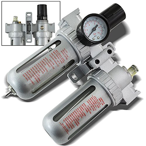 8milelake Air Regulator Filter Water Trap Oiler Lubricator 3 In1 Gauge Compressor Pressure Hutch Combination