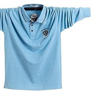 NISHIPANGZI Hombres Polo Shirt Algodón Otoño Invierno Long-Sleeve ...