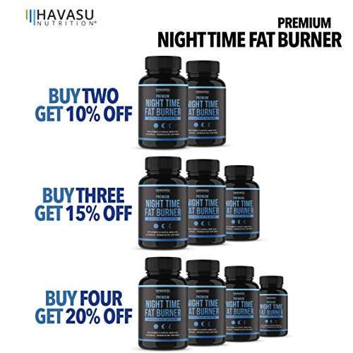 Night Time Weight Loss Pills with Premium Vitamin D, Green Coffee Bean Extract, White Kidney Bean Extract, L-Theanine, L-Tryptophan, Melatonin- Non Habit Forming PM Fat Burner & Metabolism Booster by Havasu Nutrition (Image #4)