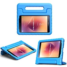 MoKo Samsung Galaxy Tab A 8.0 2017 Case - Kids Shock Proof Convertible Handle Light Weight Super Protective Stand Cover Case for Galaxy Tab A 8.0 2017 (SM-T380/T385) (NOT FIT 2015 Tab A 8.0), BLUE