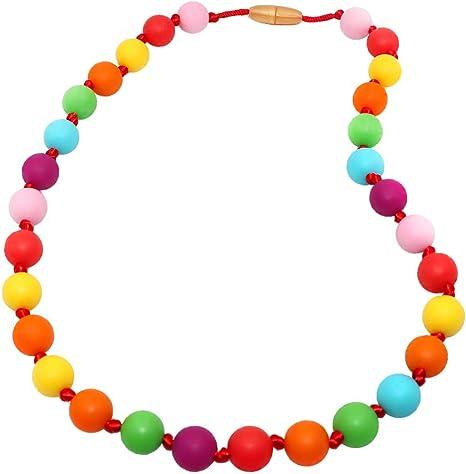 Teething Breastfeeding Nursing Chew Bead Necklace ADHD Autism SPD Jewelry USA