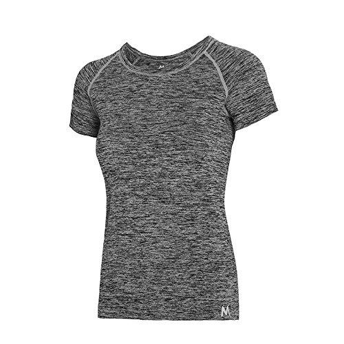Jolie PU&PU Damen Sport Kurzarm T-Shirt Fitness Gym Yoga Laufbekleidung Shirt Top Atmungsaktiv