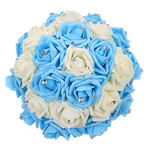 blue bridal bouquet - 5