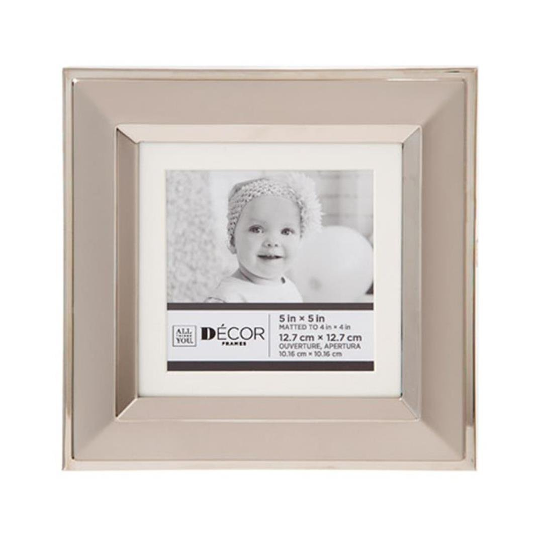 Darice All Things You™ 2-Opening Silver Picture Frame w/Matting: 7x9 to 4x6