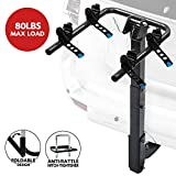 LITE-WAY 2-Bike Rack Hitch Mounted - Heavy Duty Bicycle Carrier Fit Most Sedans, Hatchbacks, Minivans, SUV (2 Inch Receiver)