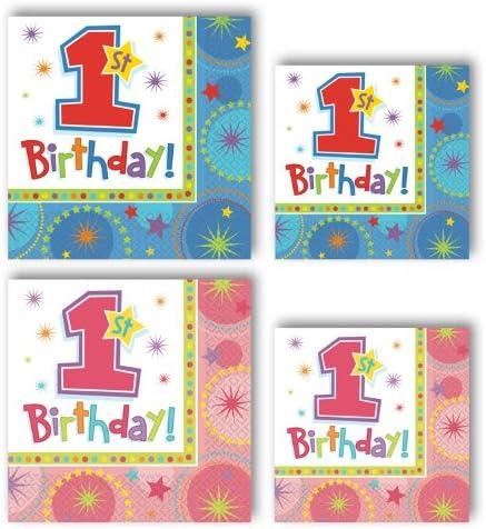 One-Derful 1st Birthday Girls Beverage Napkins pack of 16
