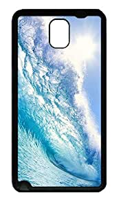 GALAXY Note 3 Cases & Covers Blue Wave Designer TPU Soft Samsung Galaxy Note 3 Note III N9000 Case Cover - Black
