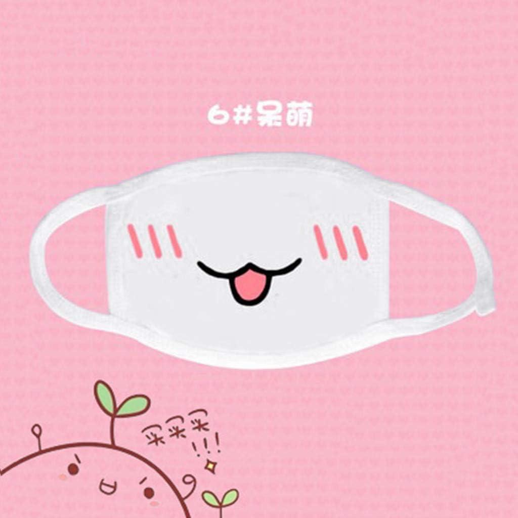 Masque Anti Pollution Cotton Masque Exterieur Lunji Cache Bouche Kawaii 6#