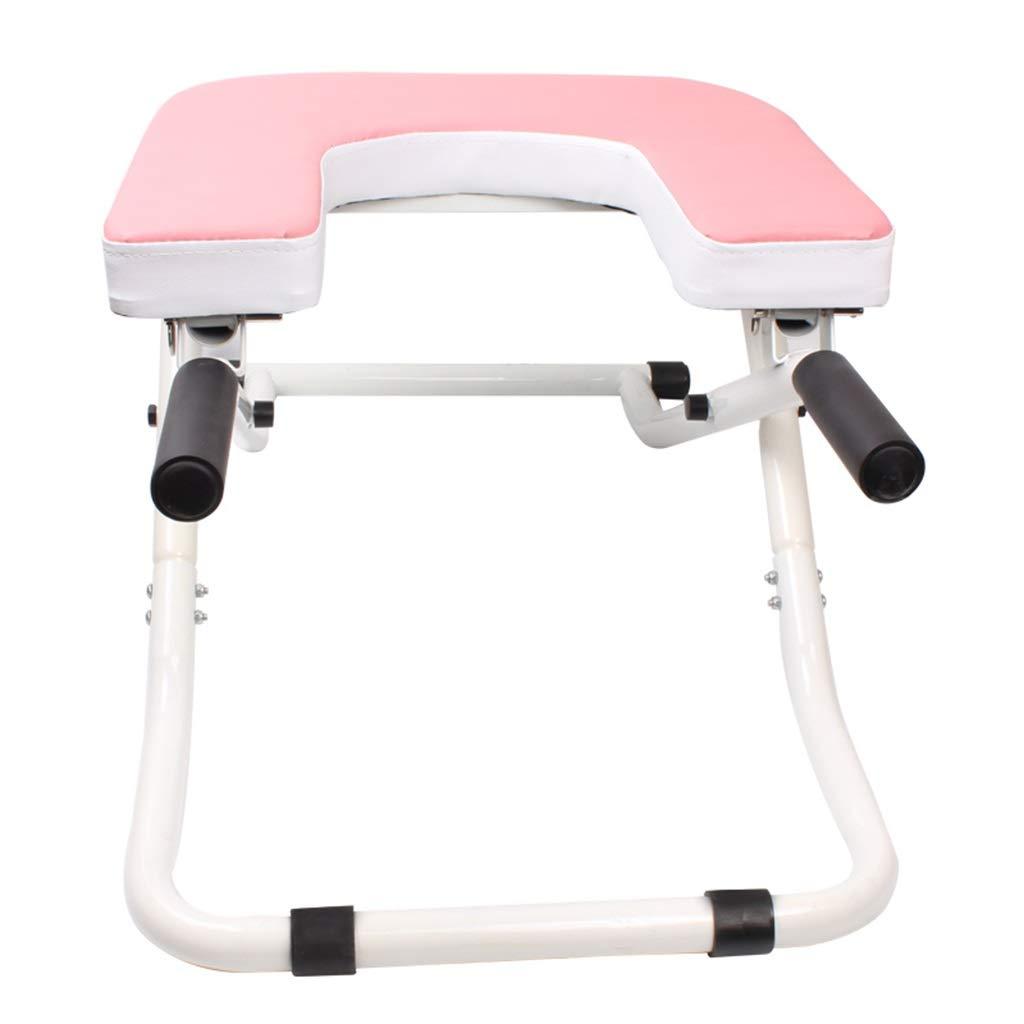 折りたたみヨガ反転チェア、ホーム練習反転補助ツール、屋内フィットネス機器、バランスの取れたボディ反転スツール理想的な椅子 (色 : Pink)  Pink B07PW68187
