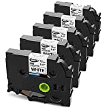 tze 231 brother - P Touch TZ Tape, Anycolor 12mm 0.47 Inch Laminated TZe Label Tape TZ-231 TZe-231 for Brother P-Touch Label Maker PT-D210 PT-H100 PT-D600 PT-1880 and More, Black on White, 26.2 Feet (8 Meter), 5-Pack