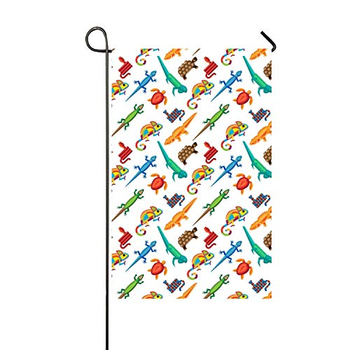 (yyoungsell Seasonal Garden Flag 28 x 40 inch Large Holiday Yard Flags - Double Sided Animal's Escaping Design for All Seasons - Premium Quality Durable Material)