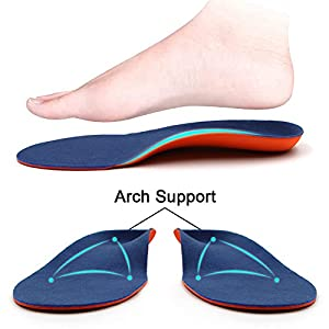 Dr. Foot's Orthotics Insoles for Flat Feet - Arch Support Shoe Inserts for Plantar Fasciitis, Foot & Heel Pain, High Arches and Over-Pronation, Comfort & Relief for Men and Women - M