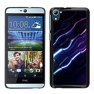Caucho caso de Shell duro de la cubierta de accesorios de protección BY RAYDREAMMM - HTC Desire D826 - Color Lines