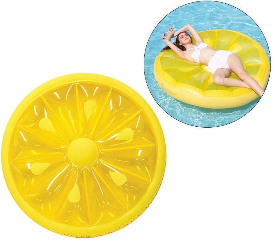 Cedarfiny Flotador hinchable para piscina, verano, playa, fiesta acuática, juguete de limón redondo flotante
