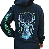 Country Life Dream Catcher Deer Black Pullover Hoodie (X-Large) offers