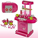 BABY N TOYYS Kids Battery Operated Luxury Kitchen Set with Suitcase Toy