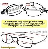 Reading Glasses 2 Pair Black and Gunmetal Readers