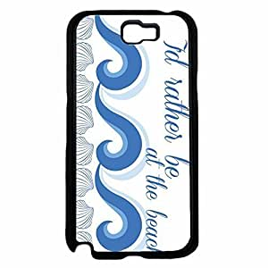 I'd Rather Be At the Beach Hard SILICONE Phone Case Back For Case Samsung Note 4 Cover