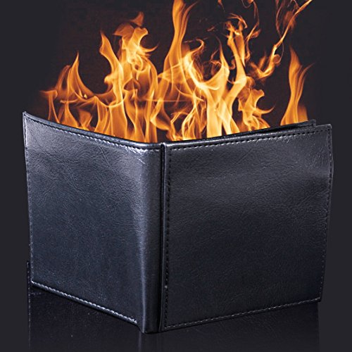 Flame Catalog Number (Magic Trick Flame Fire Wallet Leather Magician Stage Street Inconceivable Prop)