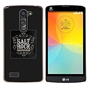 LECELL--Funda protectora / Cubierta / Piel For LG L Bello L Prime -- Logo Salt Rock Cartel Negro Music metal --