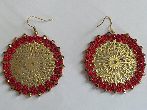 [Women Fashionable Flower Eardrop Earrings Round Elegan Earrings Gail D Billings] (Man Inside Big Bird Costume)