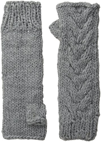 Michael Stars Women's Chunky Cozy Fingerless Glove, Galvanized, One Size