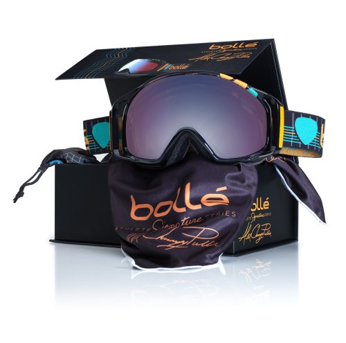 Series Modulators (Bolle Athlete Signature Series Gravity Goggles, Alex Chumpy Pullin/Modulator Vermillon Blue Lens)