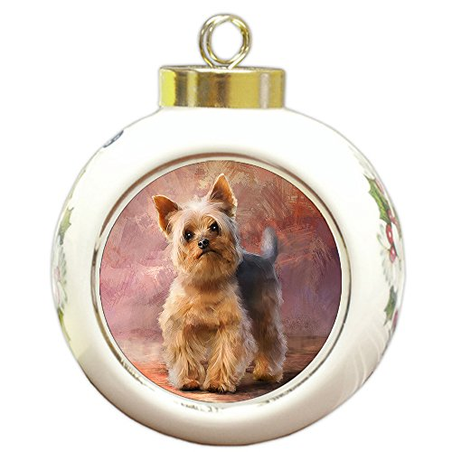 Amazon Com Doggie Of The Day Yorkshire Terrier Dog Round Ball