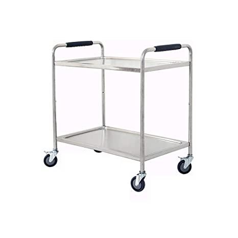 Amazon.com: XSJZ Service Cart, Stainless Steel Dining Car 2 ...