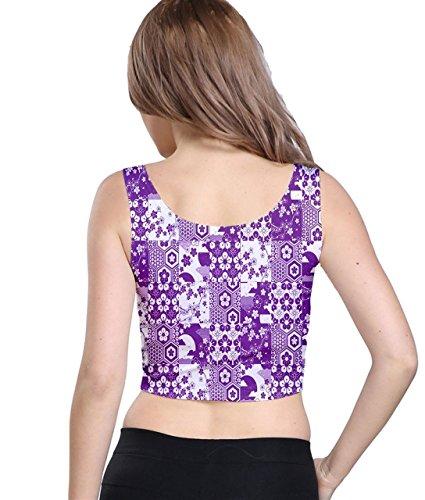 CowCow - Camiseta sin mangas - para mujer Purple & White