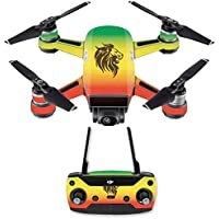 Skin for DJI Spark Mini Drone Combo - Rasta Lion| MightySkins Protective, Durable, and Unique Vinyl Decal wrap cover | Easy To Apply, Remove, and Change Styles | Made in the USA