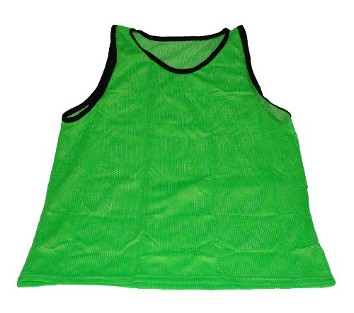 Workoutz Soccer Pinnies Set (1 Dozen) Scrimmage Vests Mesh Team Training Practice Shirts (Green, Youth)