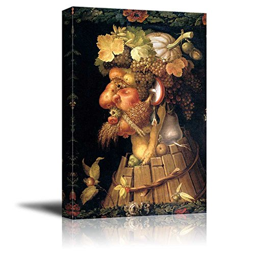 Four Seasons - Autumn by Giuseppe Arcimboldo - Canvas Wall Art Famous Fine Art Reproduction| World Famous Painting Replica on Wrapped Canvas Print Ready to Hang -16