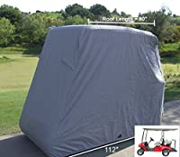 "Deluxe 4 Passenger Golf Cart Cover roof 80""L (Grey, Taupe, Green, or Black), Fits E Z GO, Club Car and Yamaha G model - Fits GEM e2"
