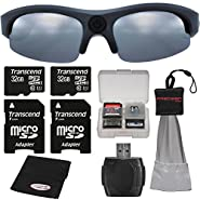 Coleman Vision HD G3HD-SUN 1080p HD Action Video Camera Camcorder Polarized Sunglasses with (2) 32GB Cards + Anti-Fog Cloth + Spudz + Kit