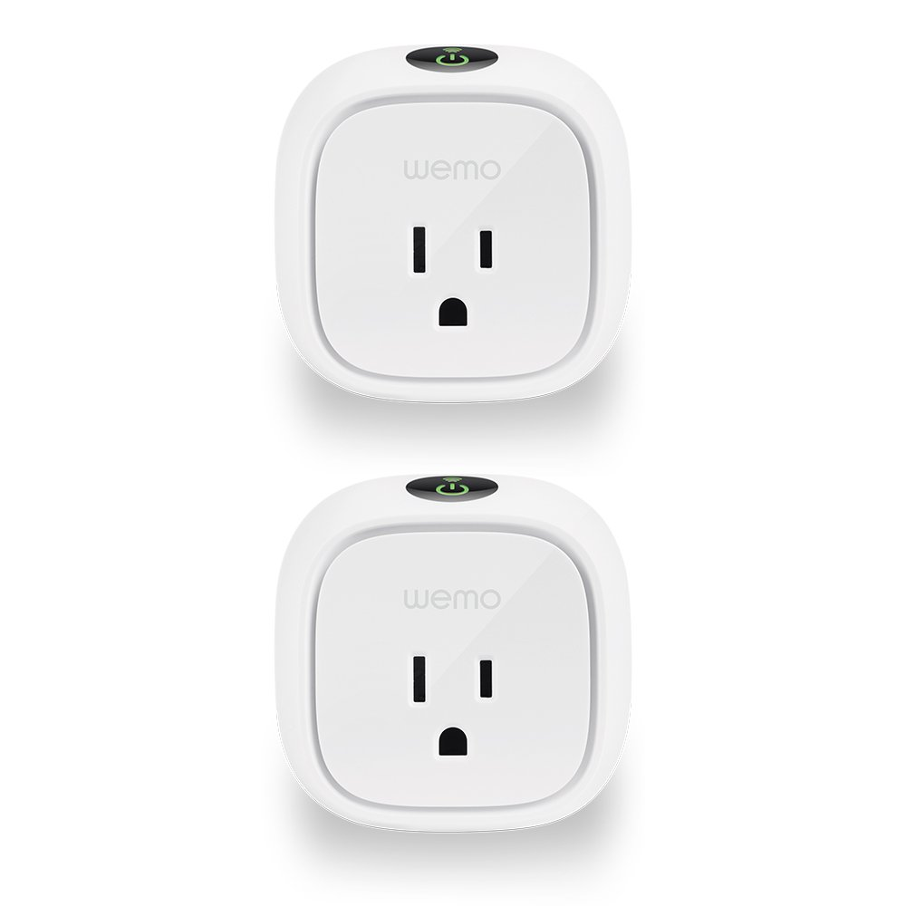 Wemo Insight Smart Plug 2-pack, Control Your Lights and Manage Energy Costs From Anywhere, Works with Amazon Alexa and Google Assistant
