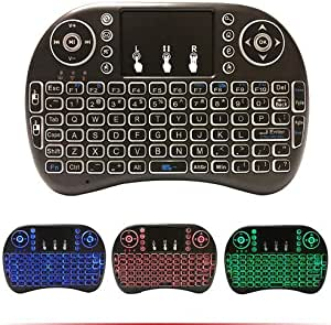 Click on the image to open expanded view EASYTONE H9 2.4GHz Colorful Backlit Mini Wireless Remote Keyboard Mouse with Touchpad USB Rechargeable Combos for Android Kodi TV Box,HTPC,IPTV,PC,PS3,Xbox 360,Raspberry Pi,NVIDIA Shield TV
