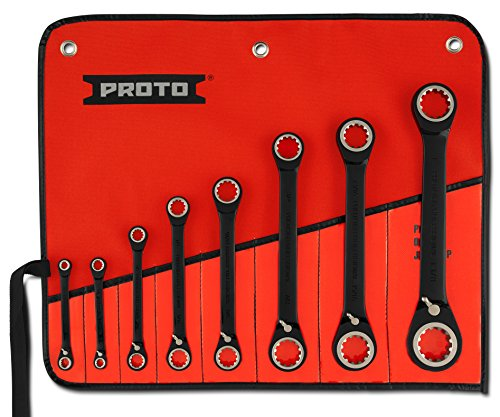 Stanley Proto JSBV-8S 8 Piece Double Box Racheting Spline Wrench Set (Wrenches Ratcheting Reversing Spline)