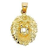 14k Yellow Gold Lion Pendant