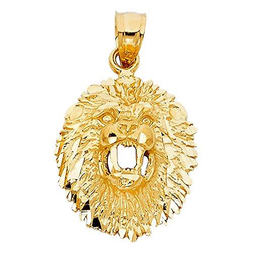 14k Yellow Gold Lion Pendant ()
