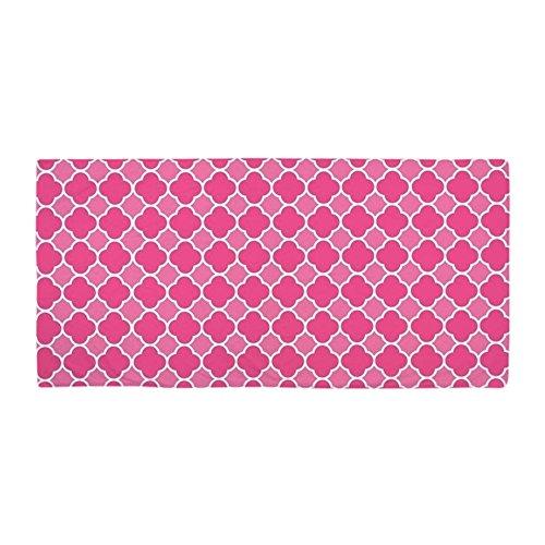 CafePress - Quatrefoil Pink - Large Beach Towel, Soft 30