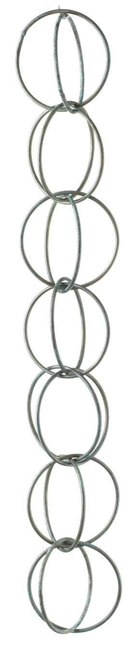 Good Directions 464V1-6 Double Link Rain Chain, Blue Verde Copper by Good Directions