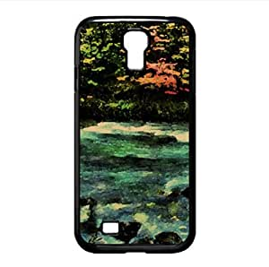 The River Passed The Quivering Forest In The Autumn Watercolor style Cover Samsung Galaxy S4 I9500 Case (Rivers Watercolor style Cover Samsung Galaxy S4 I9500 Case) by icecream design