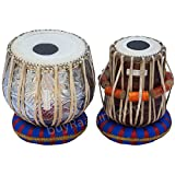 MAHARAJA Special Delhi Tabla Set, 3 Kg Copper Bayan, Finest Dayan with Padded Bag, Book, Hammer, Cushions and Cover (PDI-BEA)