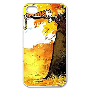 Amazing Painting Design with Calvin and Hobbes Thin & Strong Plastic Shell Cover for iPhone 5 5s -White031304