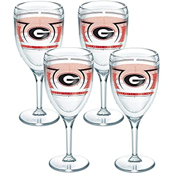 Tervis 1230124 Georgia Bulldogs Reserve Insulated Tumbler with Wrap 9oz Wine Glass Clear